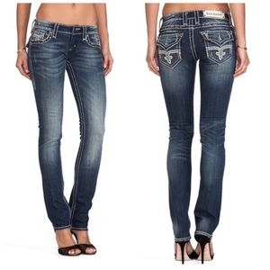 Rock revival Angie straight dark wash jeans 29